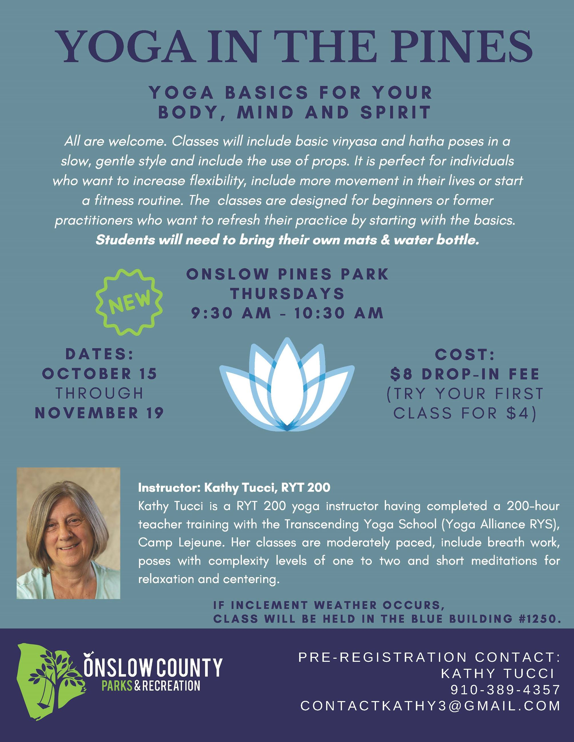 Yoga In the Pines - November