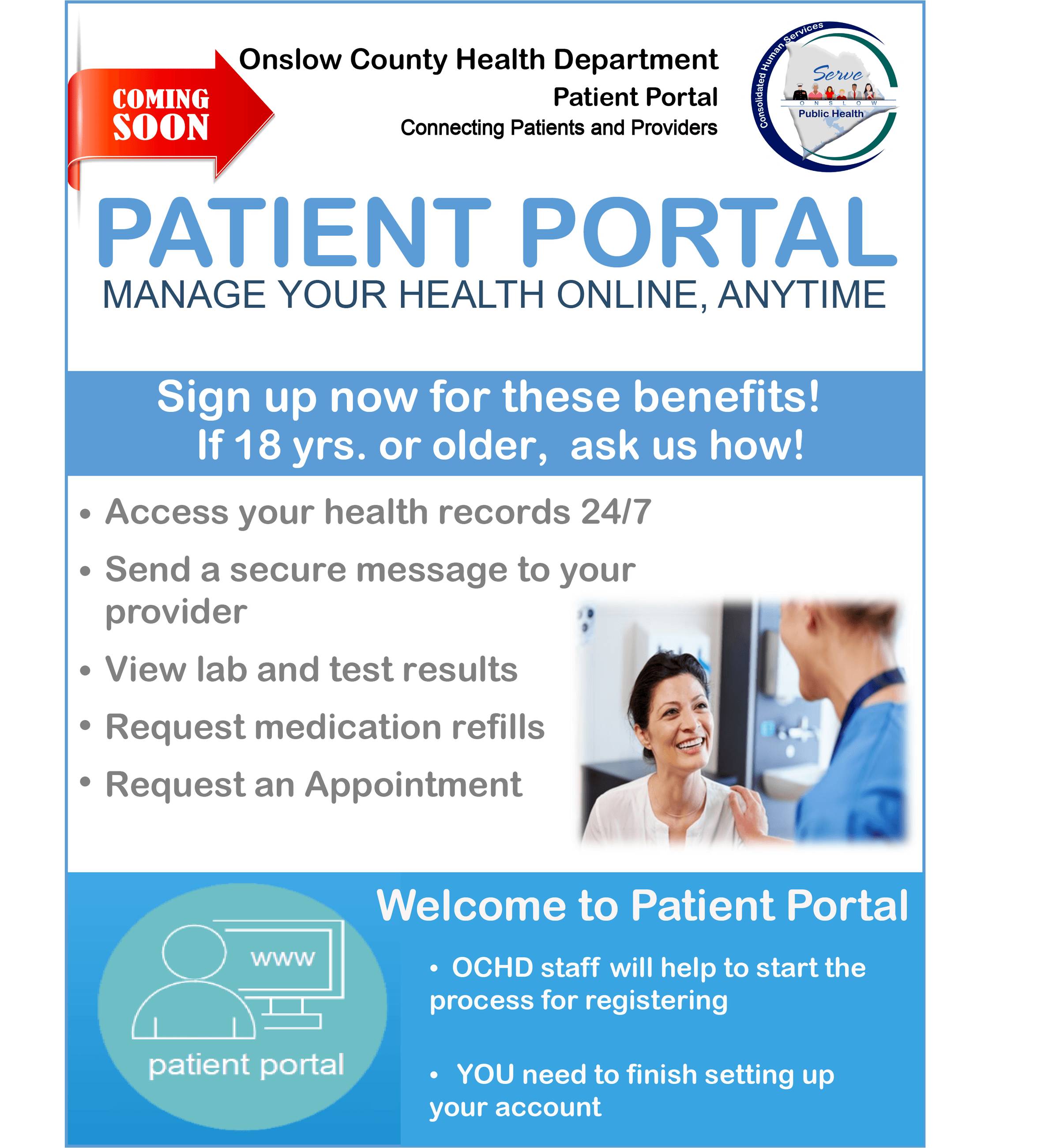 Patient Portal Eng Sign Up Flyer
